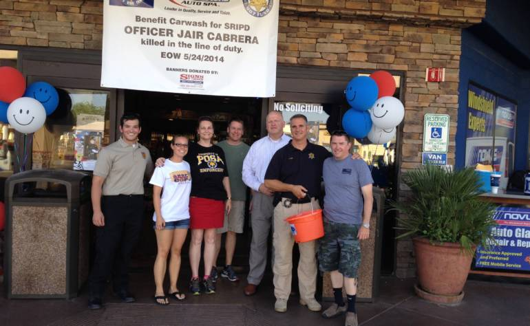 $18,540 Raised at Carwash for Officer Cabrera