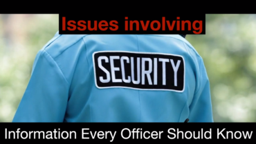 AZCOPS: Issues Involving Security Guards 4.26.2021