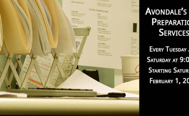 Avondale Offers Free Tax Assistance