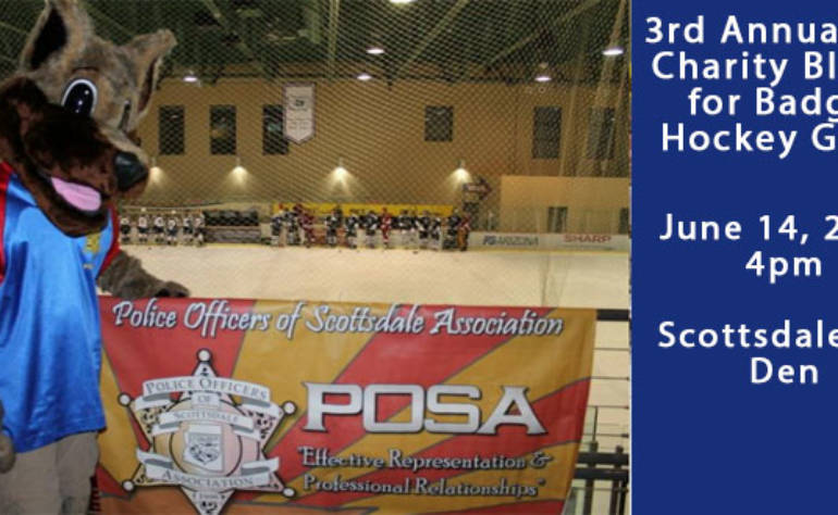 3rd Annual 907 Charity Blades for Badges Hockey Game